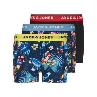 Set di 3 boxer per bambini Jack & Jones Flower Bird