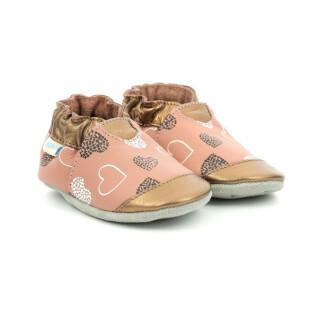 Pantofole per bambini Robeez  Spicy Hearts