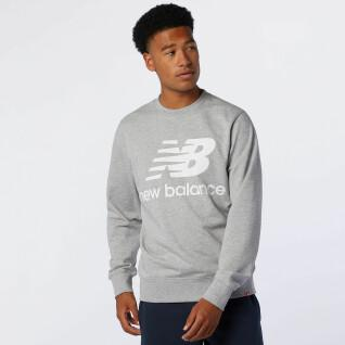 Felpa New Balance essentials stacked logo crew