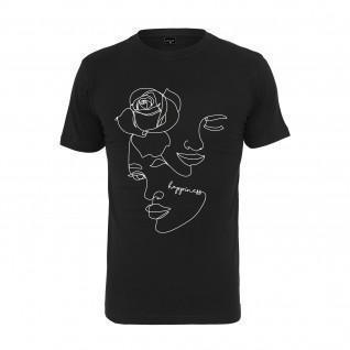 T-shirt donna Mister Tee one line rose