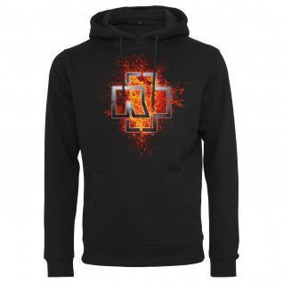 Felpa con cappuccio Rammstein rammstein logo della lava