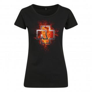 T-shirt Rammstein rammstein donna lava logo