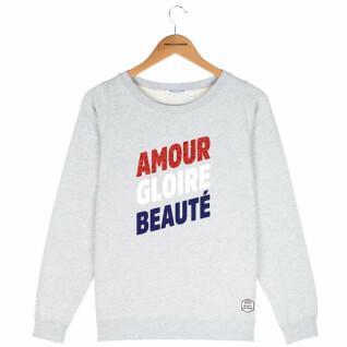 Felpa girocollo donna French Disorder Amour gloire beauté