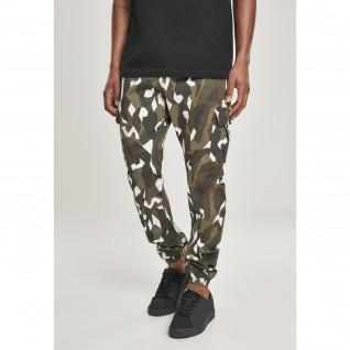 Pantaloni cargo in twill stretch geometrico Urban Classic