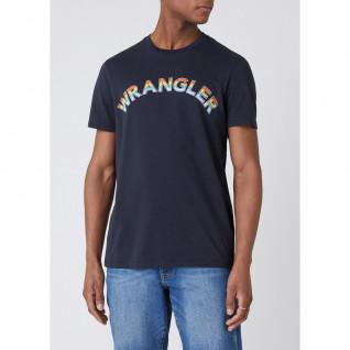 T-shirt Wrangler Rainbow Blue Graphite