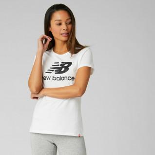 T-shirt donna New Balance essentials stacked